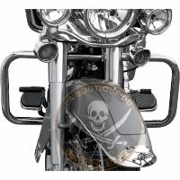 BARRE DE PROTECTION MOTEUR HARLEY FLHT / FLHR / FLHX / HD TRIKE 1997-2014 CHROME 38mm...PE05060500