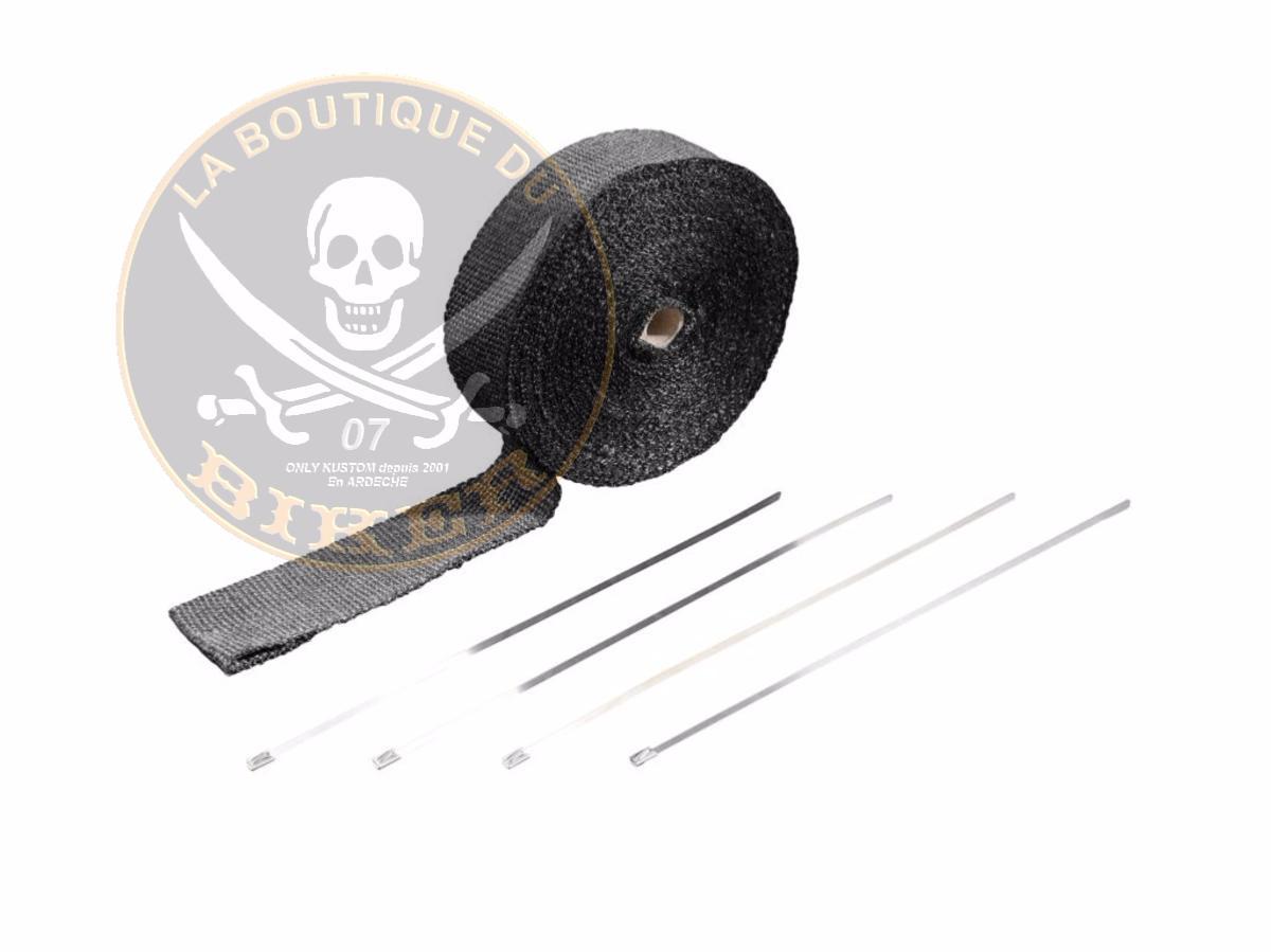 Bande pour echapement noir 50mm x 15m hh65 101 la - Code promo la boutique officielle frais de port ...