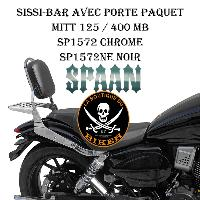SISSI-BAR MITT 125 / 400 MB...AVEC PORTE PAQUET CHROME...SP152 35CM..LABOUTIQUEDUBIKER