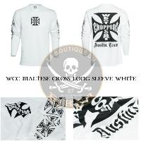 TEE-SHIRT...TAILLE L MANCHES LONGUES WCC MALTESE CROSS LONG SLEEVE WHITE...MCS966201