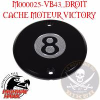 CACHE MOTEUR VICTORY DROIT... Engine cover 8-Ball Right Black anodized Aluminum #M000025VB43