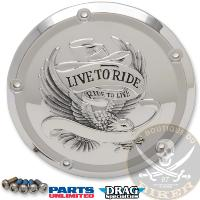 CACHE EMBRAYAGE HD FL A PARTIR 2015...PE11070554 DRAG SPECIALTIES COVER DERBY 5-HOLE LIVE TO RIDE CH