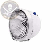 PHARE 115mm ADDITIONNEL CHROME 35W...L'UNITE...HH68-130...LA BOUTIQUE DU BIKER