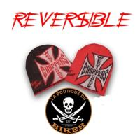 BONNET WEST COAST CHOPPERS WCC Iron Cross COE BEANIE  JJ REVERSABL...CC482166...LA BOUTIQUE DU BIKER
