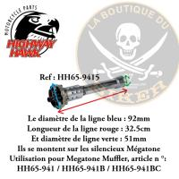 CHICANE POUR POT MEGATON...H65-9415...Megatone Silencer, with adjustable sound