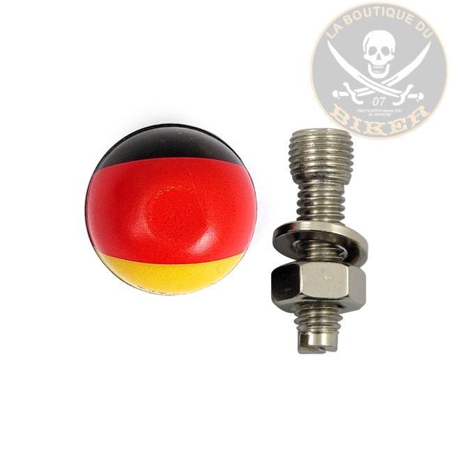 boulon de plaque d 39 immatriculation drapeau allemand la paire mcs555814 laboutiquedubiker. Black Bedroom Furniture Sets. Home Design Ideas