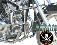BARRE de PROTECTION MOTEUR CLIPIC GUEPARD 125...SP756 CHROME...SPAAN-LA BOUTIQUE DU BIKER