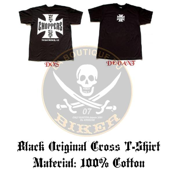 TEE-SHIRT...TAILLE XL...WCC IRON CROSS  BLACK ...CC482009 LA BOUTIQUE DU BIKER