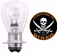 AMPOULE POUR PHARE ADDITIONNEL 35W...HH68-147...LA BOUTIQUE DU BIKER