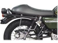 SUPORTS SACOCHES HANWAY RAW 125 + MASAI MOTOS Greystone 50...SP1147 CHROME...SPAAN LA BOUTIQUE DU BIKER