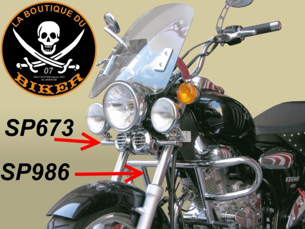 SUPORT PHARE ADDITIONNEL KEEWAY 125...SP673 SPAAN LA BOUTIQUE DU BIKER