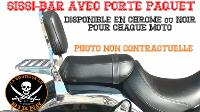SISSI-BAR POUR VICTORY JUDGE CHROME...35cm AVEC PORTE PAQUET CHROME...SP1155  #LABOUTIQUEDUBIKER