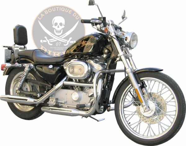 BARRE DE PROTECTION MOTEUR HARLEY SPORTSTER AVANT 2004 CHROME...SP533...SPAAN LA BOUTIQUE DU BIKER