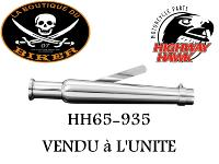 POT ECHAPEMENT UNIVERSEL 47cm TAPERED Trumpet Chrome...HH65-935...LA BOUTIQUE DU BIKER