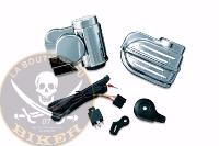 KLAXON Super Deluxe Wolo® Bad Boy™ Horn Kit for Universal 12V KURYAKYN ...K7290...KAWASAKI