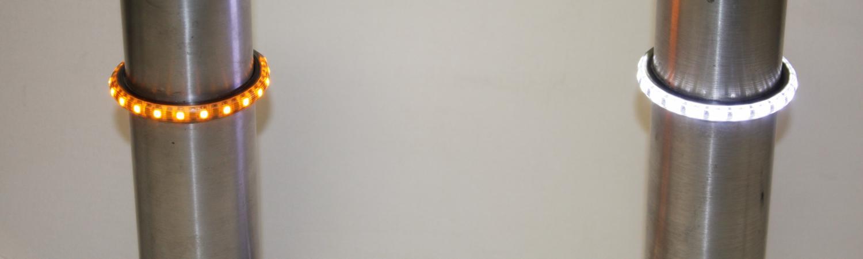 bc6c8e32844c6 CLIGNOTANTS DE FOURCHE 43mm LED CLAIR...CUSTOM DYNAMICS  TRUWRAPZ......PE20401497...LABOUTIQUEDUBIKER