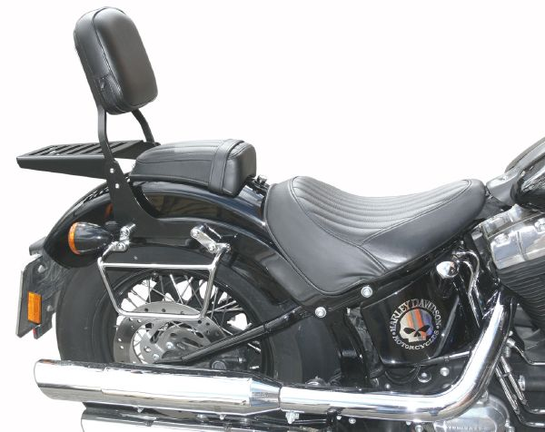 SISSI-BAR HD SOFTAIL FLS SLIM 2012-2016...AVEC PORTE PAQUET CHROME PM...SP1037 35cm...LABOUTIQUEDUBIKER