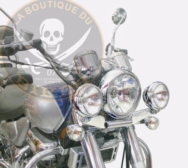 SUPORT PHARE ADDITIONNEL HYOSUNG 125/250/650 GV AQUILA...SP798 SPAAN LA BOUTIQUE DU BIKER