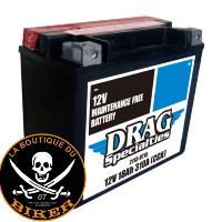 BATTERIE POUR TRIUMPH ROCKET 3...PE21130715 DRAG SPECIALTIES BATTERIES BATTERY DRAG YTX20HL-FT-B
