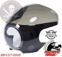 BULLE SAUTE-VENT UNIVERSEL Cafe Racer Fairing Oldskool ABS unfinnished black Clear screen...C57-0005
