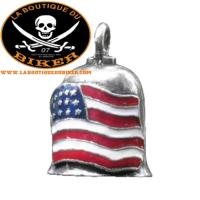 CLOCHETTE PORTE BONHEUR...MCS550519 COLORED AMERICAN FLAG GREMLIN BELL #LABOUTIQUEDUBIKER