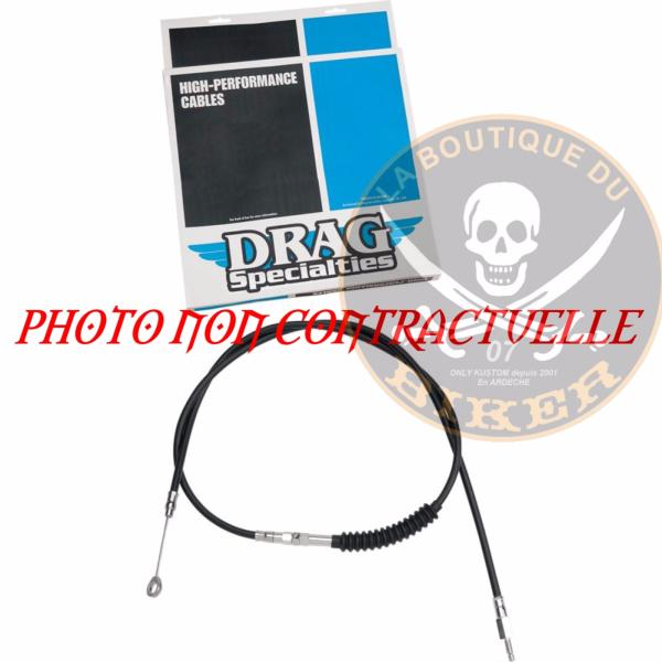 HARLEY FL 2008-2016...CABLE D'EMBRAYAGE NOIR 159CM..PE06521435...CLUTCH CABLE HIGH EFFICIENCY BLACK