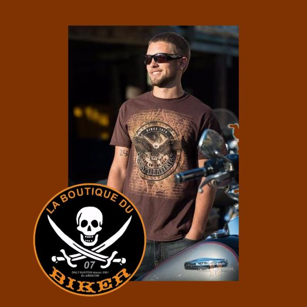 TEE-SHIRT...TAILLE L...CC888653 Mens T-Shirt, Republic...LA BOUTIQUE DU BIKER