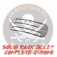 PORTE PAQUET INDIAN CHIEF SOLO RACK BILLET COMPLETE CHROME...HH668-0631...LA BOUTIQUE DU BIKER