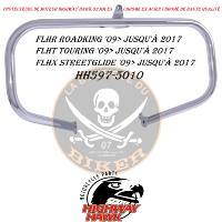 BARRE DE PROTECTION MOTEUR HARLEY FLH 2009-2017 CHROME 32mm...HH597-5010...LA BOUTIQUE DU BIKER
