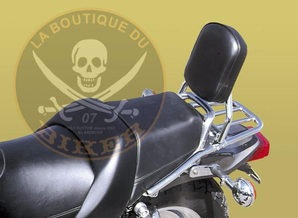 SISSI-BAR YAMAHA V-MAX 1200 AVEC PORTE PAQUET CHROME ...SP291...SPAAN-LA BOUTIQUE DU BIKER