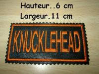 PATCHE BRODE...CUIR PETIT MODELE...PatchCuir-Knucklehead