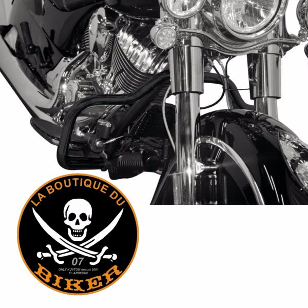 BARRE DE PROTECTION MOTEUR INDIAN CHIEF CLASSIC / VINTAGE NOIR 32mm...H598-030BK..LABOUTIQUEDUBIKER