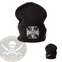 BONNET WEST COAST CHOPPERS WCC BEANIE MALTESE CROSS BASIC...MCS987659...LA BOUTIQUE DU BIKER