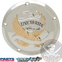 CACHE EMBRAYAGE HD FL A PARTIR 2015...PE11070555 DRAG SPECIALTIES COVER DERBY 5-HOLE LIVE TO RIDE CH