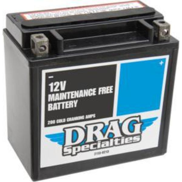 BATTERIE POUR HARLEY SPORTSTER 2004-2020...PE21130767 DRAG SPECIALTIES BATTERIES YTX14L-FT
