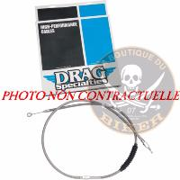 HARLEY FL 2008-2016...CABLE D'EMBRAYAGE AVIA 159CM..PE06521490...CLUTCH CABLE HIGH EFFICIENCY STAINL