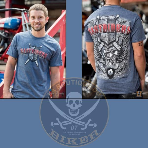TEE-SHIRT...TAILLE XXXL - 3XL...CC888636 Mens T-Shirt, Diamond Shield...LA BOUTIQUE DU BIKER