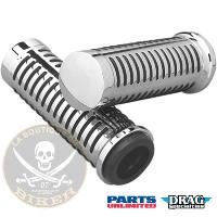 POIGNEES POUR GUIDON DE 22 PARTS UNLIMITED CHROME GRIPS 4 O-RING...DS243184...LA BOUTIQUE DU BIKER