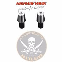 EMBOUT POUR GUIDON 22mm + 25mm CHROME...H54-103...LA BOUTIQUE DU BIKER