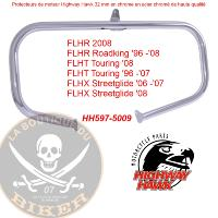 BARRE DE PROTECTION MOTEUR HARLEY FLH 1996-2008 CHROME 32mm...H597-5009...LA BOUTIQUE DU BIKER