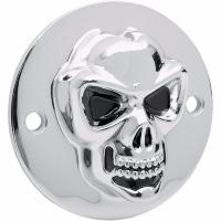 CACHE ALLUMAGE HD SPORTSTER 2004-2014...PE19020185 DRAG SPECIALTIES 3-D SKULL POINT COVER CHROME 2-H