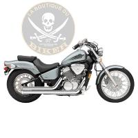 POTS HONDA VT600 SHADOW 1988-2007 COBRA SYSTEM STREET ROD 2 INTO 2 STRAIGHT-CUT COBRA CHROME
