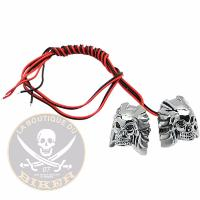 BOULONS VIS LED CHROME SKULL...PE259140...LA BOUTIQUE DU BIKER