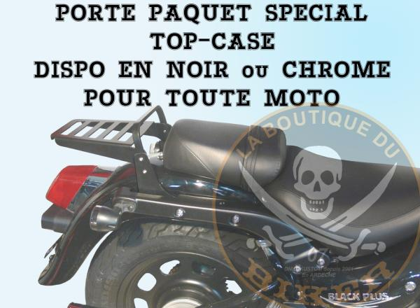 PORTE PAQUET YAMAHA XVS650 DRAG STAR CLASSIC...SPECIAL TOP-CASE CHROME.SP620TC.LA BOUTIQUE DU BIKER