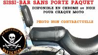 SISSI-BAR HONDA CMX 500 REBEL...35cms SANS PORTE PAQUET CHROME...SP1409 SPAAN-LA BOUTIQUE DU BIKER