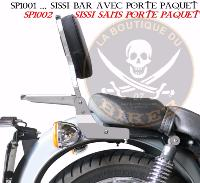 SISSI-BAR MOTO GUZZI CALIFORNIA STONE...AVEC PORTE PAQUET CHROME..SP1001  HAUTEUR 35CM