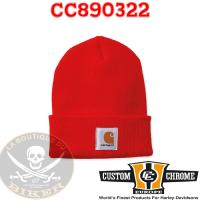 BONNET CARHARTT Acryl Watch Hat Bright Orange...CC890322...LA BOUTIQUE DU BIKER
