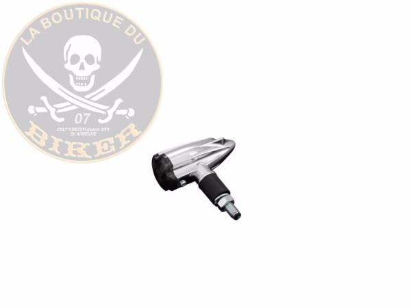 CLIGNOTANTS HOMOLOGUES LED CHROME STREAM...H68-676...LA BOUTIQUE DU BIKER