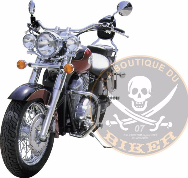 BARRE de PROTECTION MOTEUR HONDA VT750 C2 SHADOW CHROME...SP329...SPAAN-LA BOUTIQUE DU BIKER
