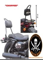 SISSI-BAR HD SPORTSTER APRES 2004...50cm AVEC PORTE PAQUET CHROME...SP666CH...SPAAN-LABOUTIQUEDUBIKER